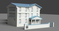 3d caribbean house model