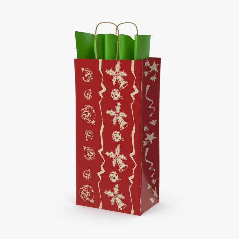 christmas bag 05 red 3d max