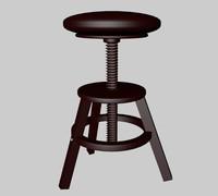 3d 3ds industrial vintage stool