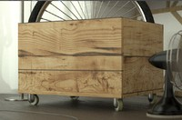 Wood Box with wheels