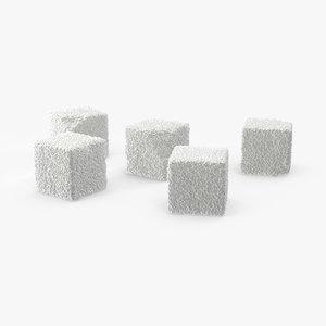 3d model sugar cubes