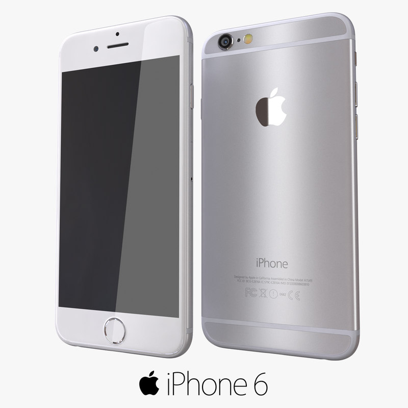 3d iphone 6 silver modeled