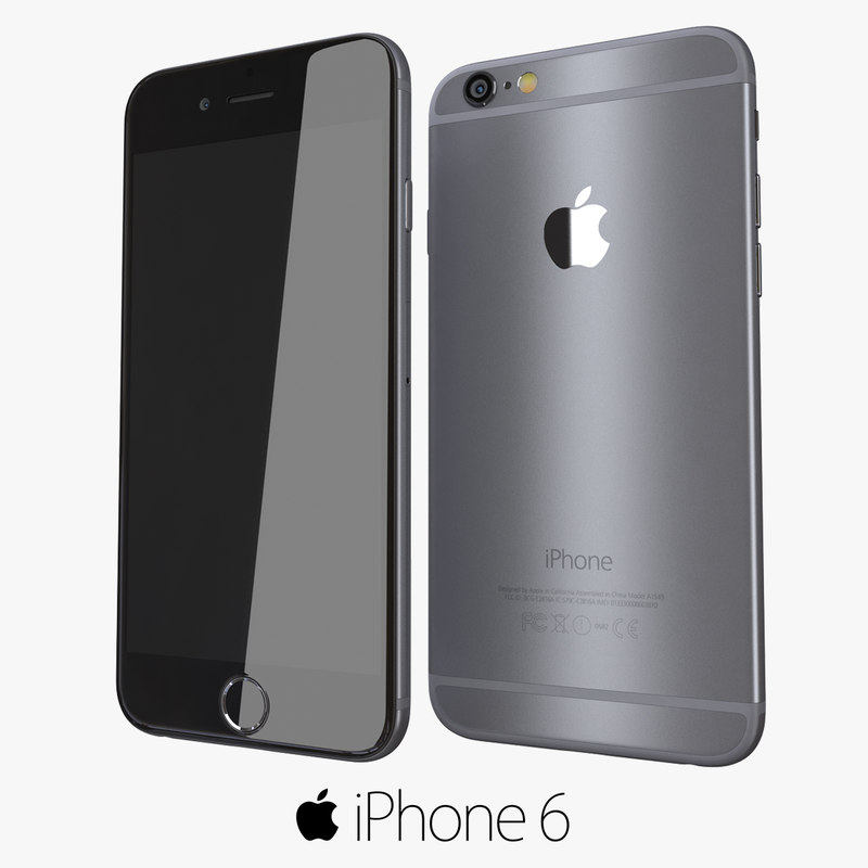 3d model of iphone 6 space gray