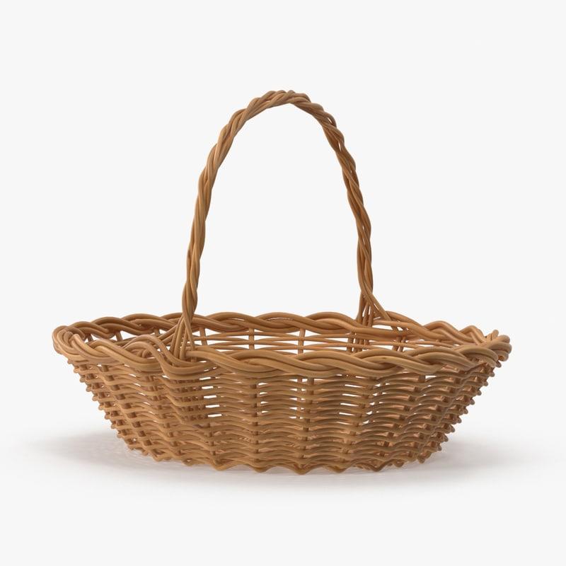 easter basket 01 3d max
