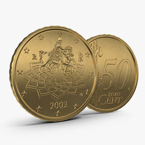 italian euro coin 50 3ds