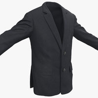 3d model mens suit jacket 3
