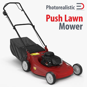 3d model push lawn mower