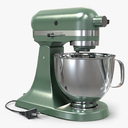 Vintage Stand Mixer Green 3D Model