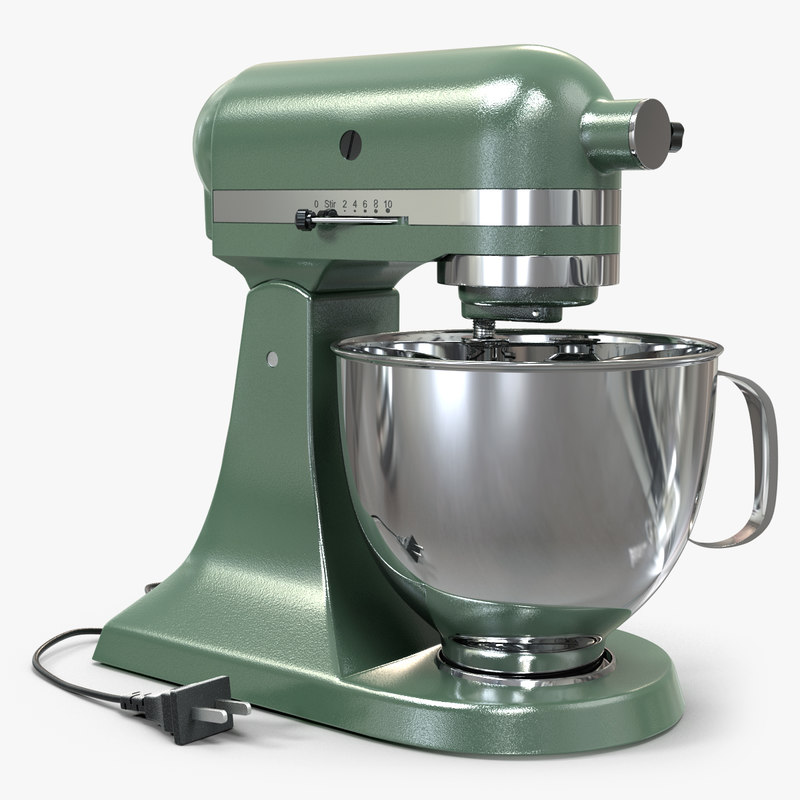 3d model vintage stand mixer green