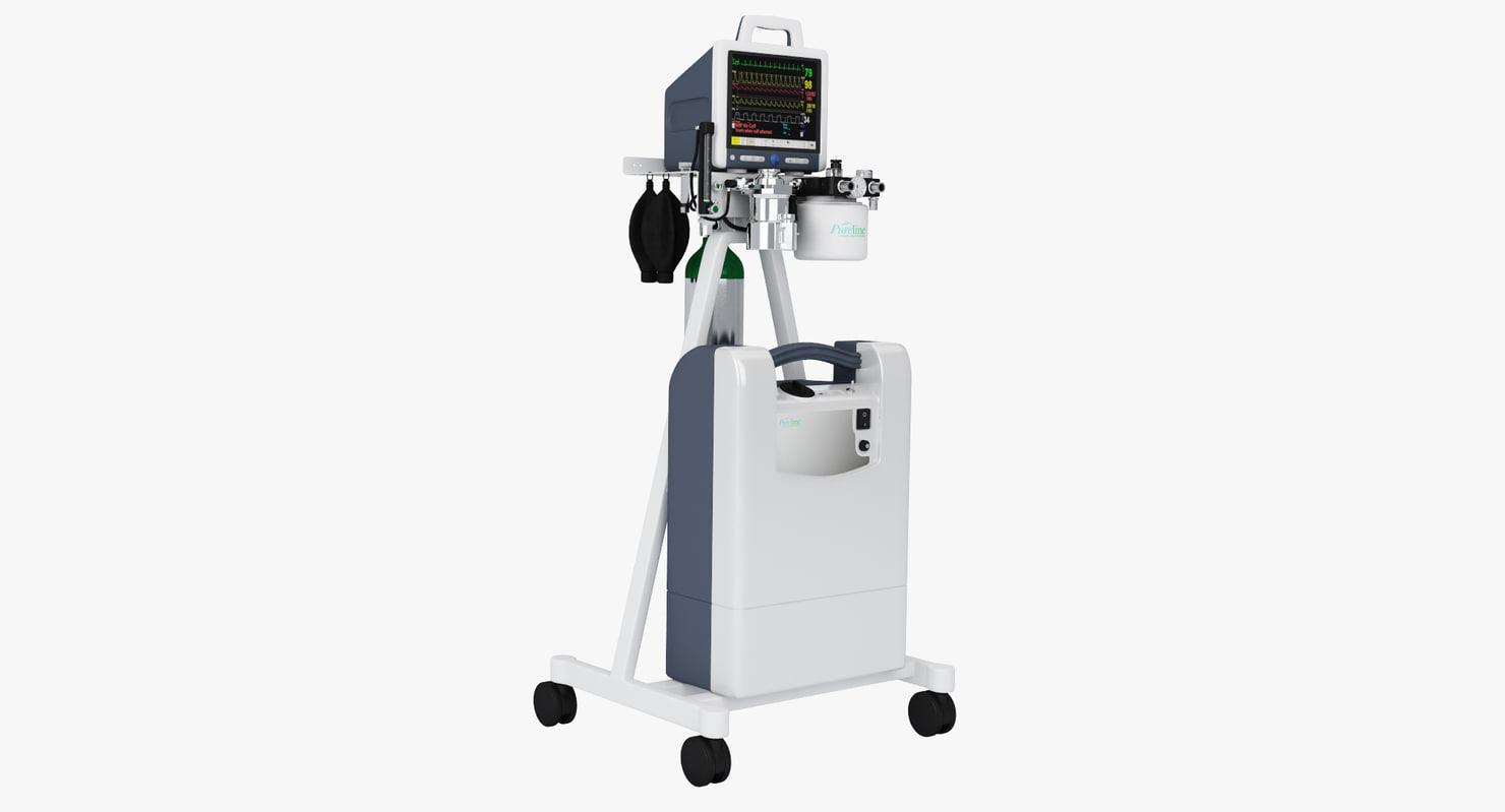 max anesthesia machine pureline