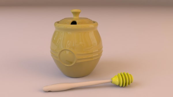 3d honey pot model