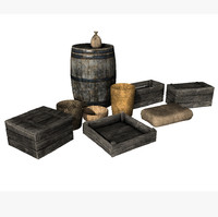 Low Poly Storage Prop Set