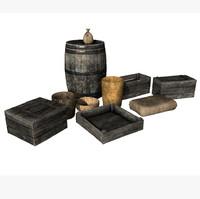 set storage props 3d model