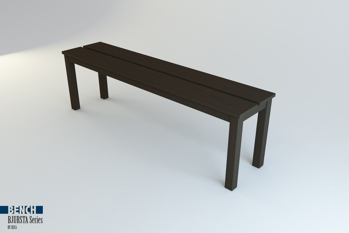 bench bjursta series ikea 3ds