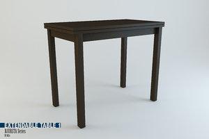 3d extendable table bjursta series model