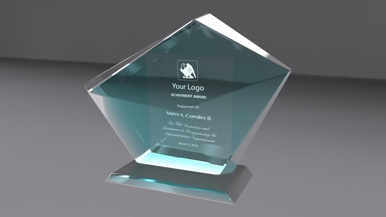 award glass 3d obj