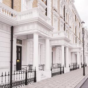 3d regency terrace houses street model