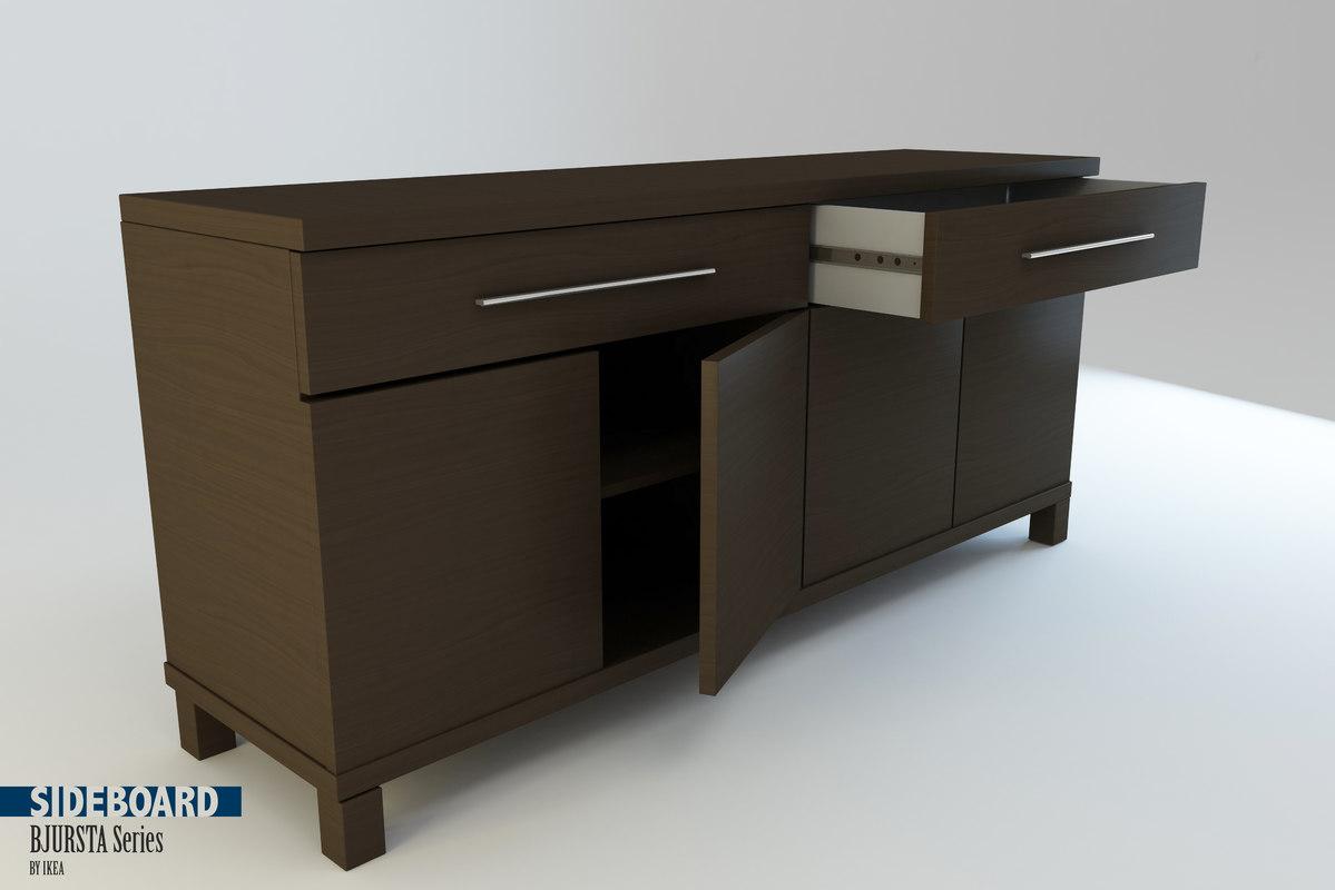 C4d Sideboard Bjursta Series Ikea
