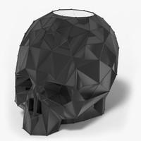 3d skull candle holder model