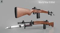world war 2 rifle 3d max