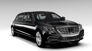 mercedes maybach pullman guard 3d model