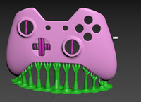 3d print xbox faceplate controller model