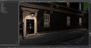 3d model 10 downing street london