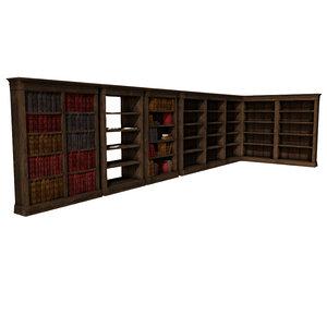 modular library set 3d model