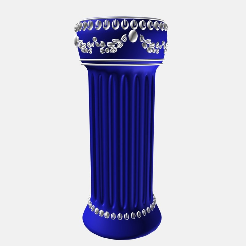 3d model greek column plant stand