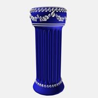 3d model greek column plant stand