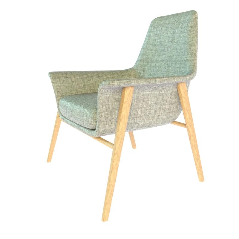 3d armchair dall agnese dafne