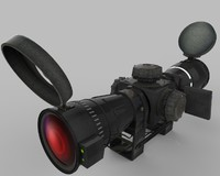 3d dxf sniper scope