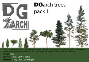 3d trees pack 1