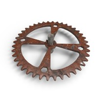 3d scratched gears model