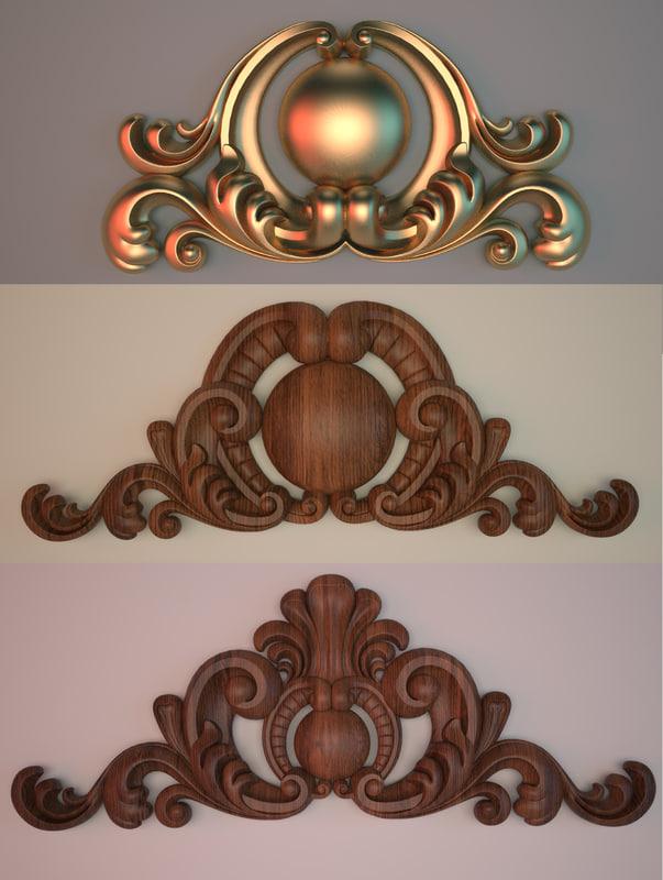 3d model ornamental element interior