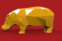 Hippo Hippopotamus low poly