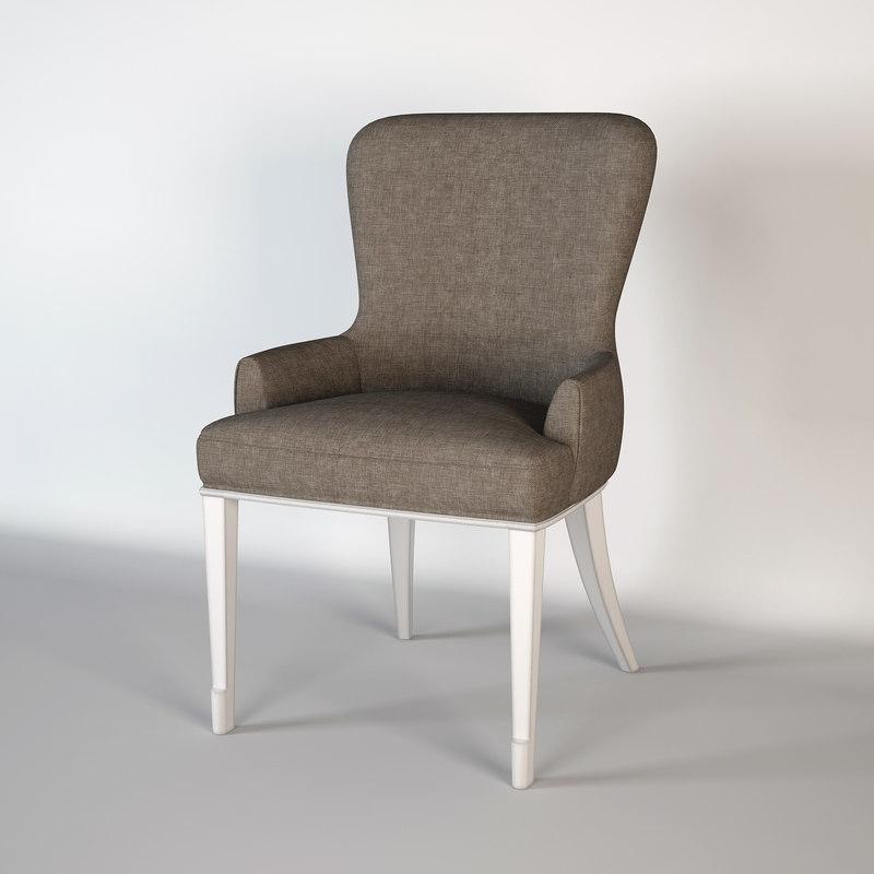 3d model barbara barry chair
