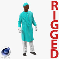 c4d male african american surgeon