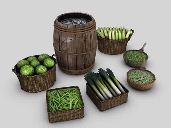 3d medieval markets