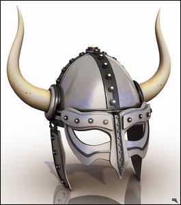 3d model helmet barbarian barbar
