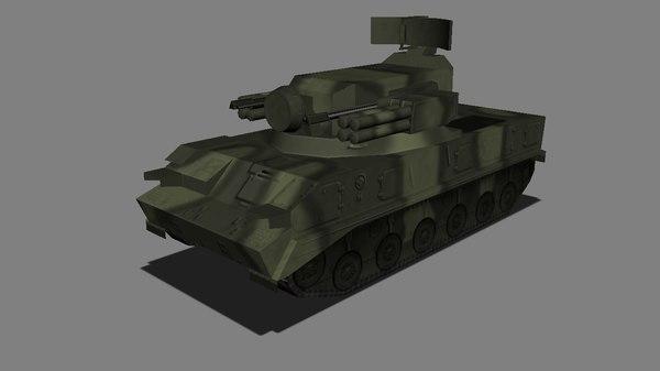 3d sa-19 grison tunguska model