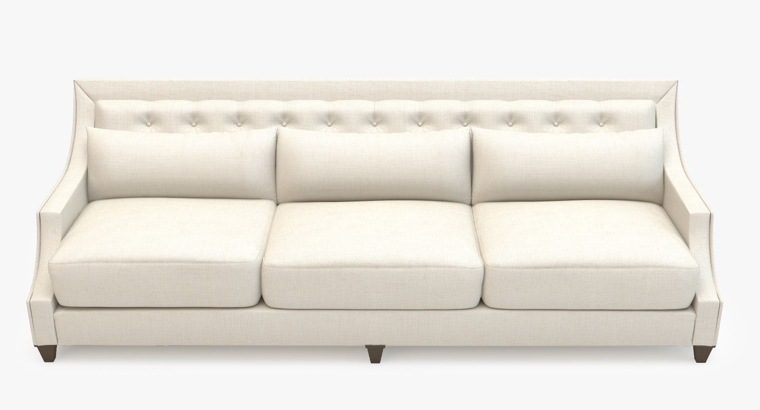 3d baker sofa - tufted