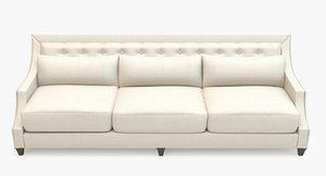 3d baker sofa - tufted