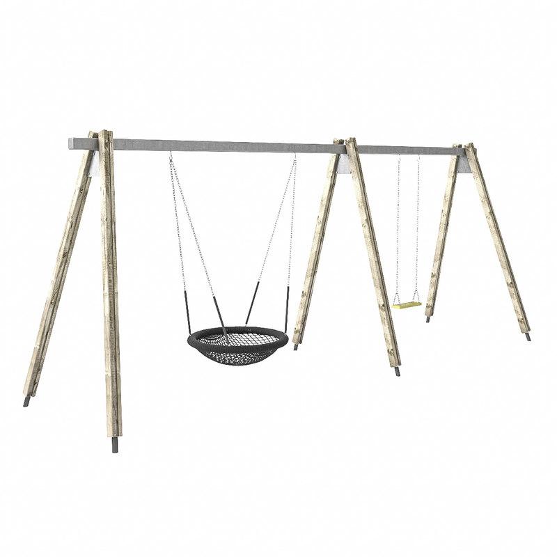 3d playground ground swing