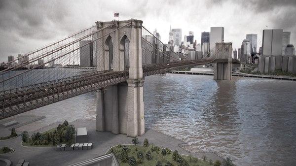3d brooklyn bridge model