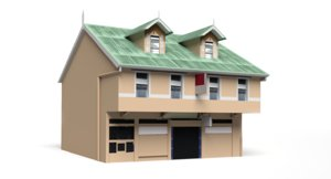 caribbean house 3d 3ds