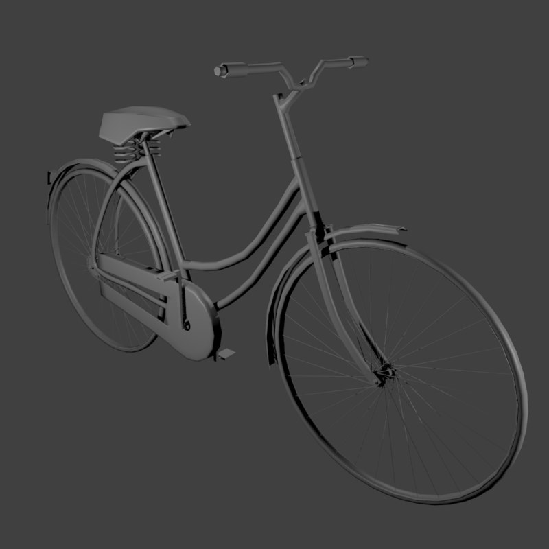 bicycle blender 3d model