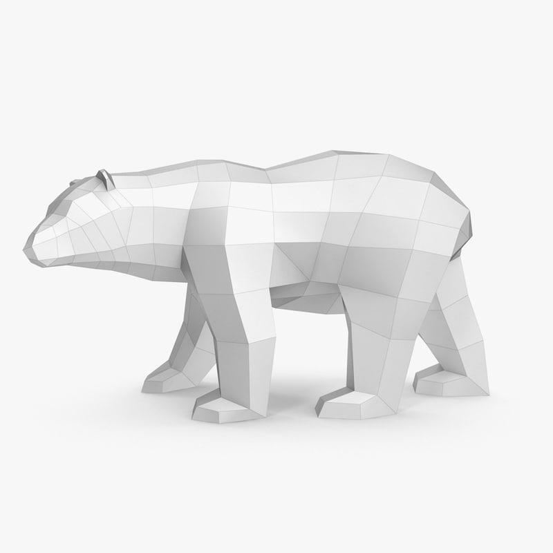 3d Model Paper Bear