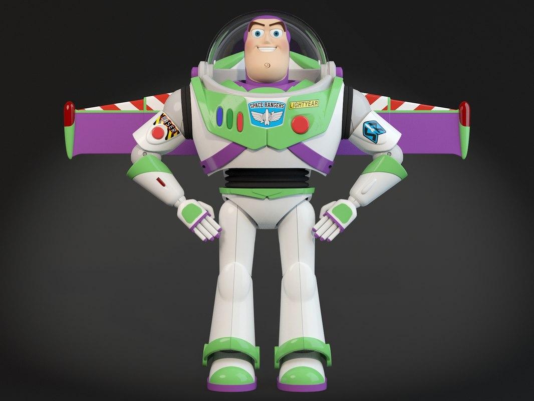 3d buzz lightyear toy model