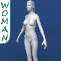 realistic woman modeled female body 3d model